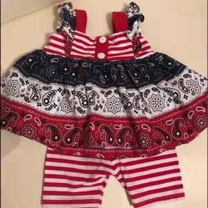 Bonnie Baby Summer outfit, 12 months
